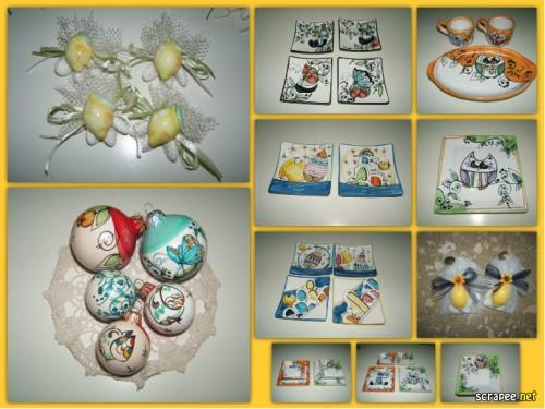 mezzaluna vietri sul mare,ceramica vietrese bomboniere,segnaposto,bomboniere,mezzaluna ceramiche vietresi,mezzaluna bomboniere promozione,matrimonio in costiera amalfitana