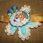 targhetta ovale ceramica