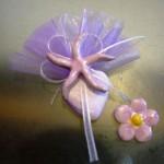segnaposto confettoacuore + stella marina in ceram