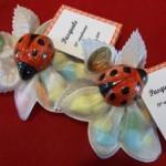 coccinella in ceramica a magnete + confezine
