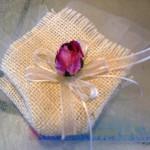 sacchetto juta panna + rosa lilla