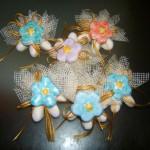 segnaposto 3 confetti + magnete ceramica