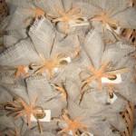 fazzoletto juta panna + stella marina naturale