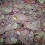 sacchetto fiocco rosa + magnete ceramica