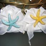 sacchetto fiocco panna + stella marina magnete