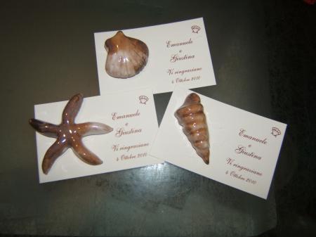 conchiglie e stella marina ceramica